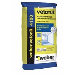 Наливной пол самовыравнивающийся Weber.vetonit 4100 - фото 4599